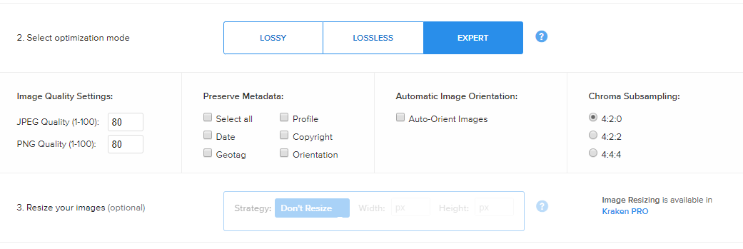 improve your site speed by optimizing image file sizes