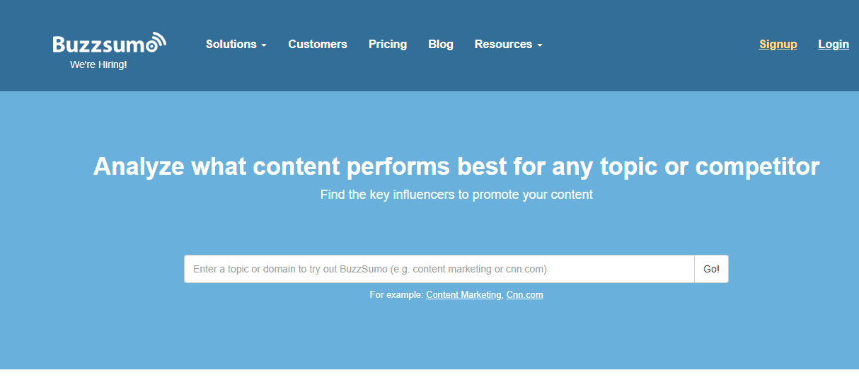 buzzsumo is a great way to come up with content ideas