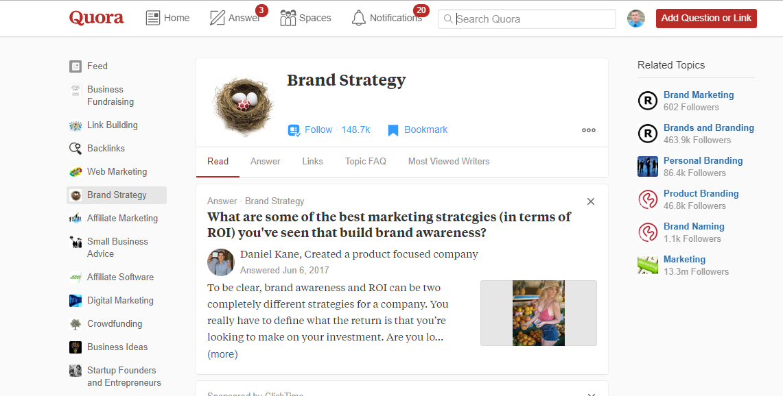 how to find the best topics to write about in your blog with quora